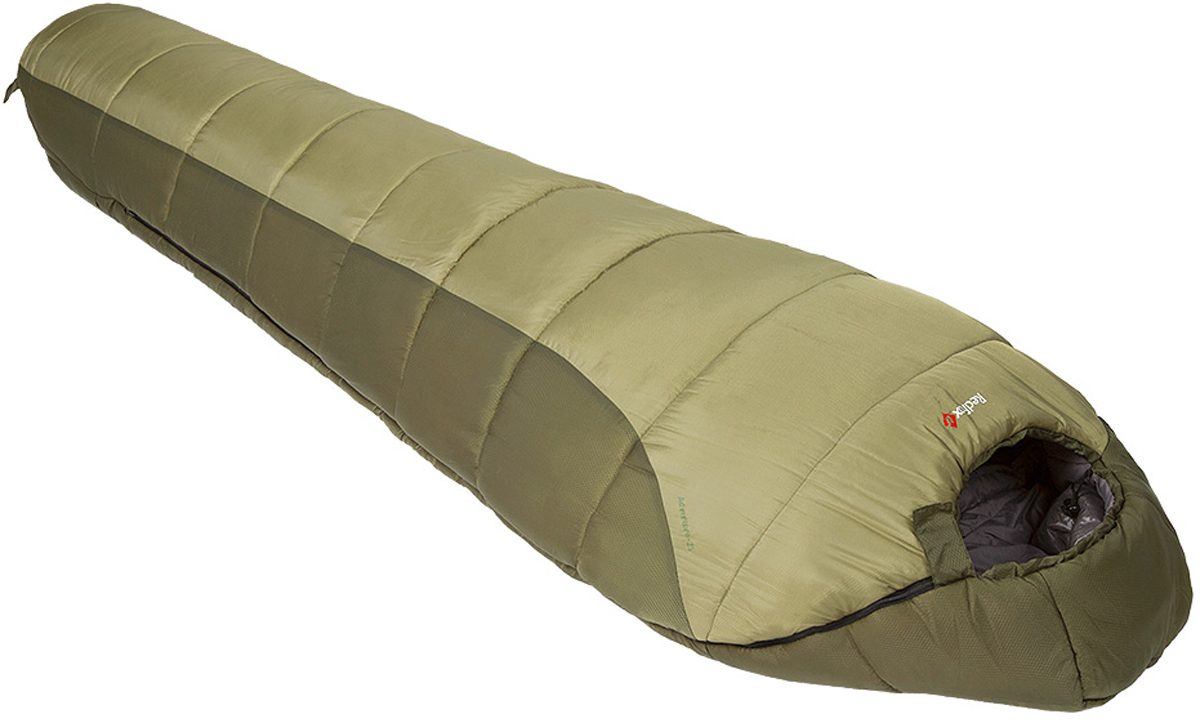 Мешок спальный Red Fox Explorer-20, цвет: темно-зеленый, правосторонняя молния, 205 х 80 см