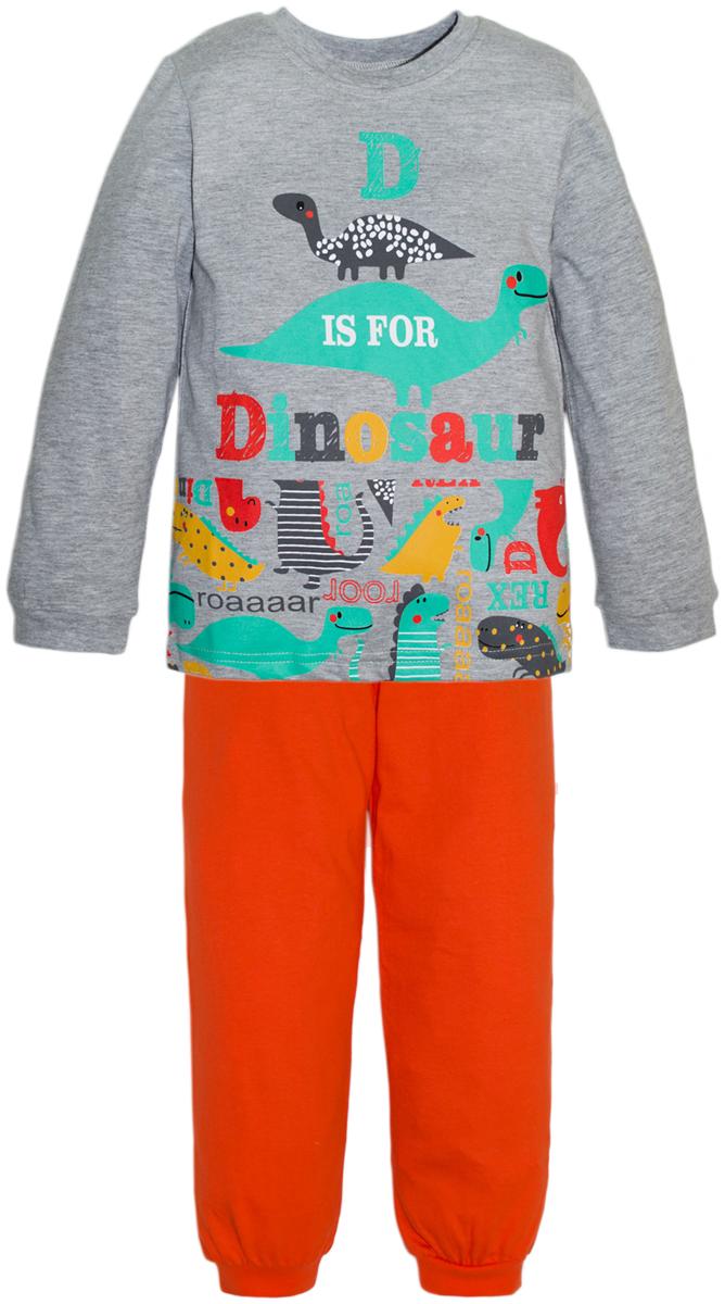 Пижама для мальчиков Lets Go, цвет: красный. 9227. Размер 110/1169227