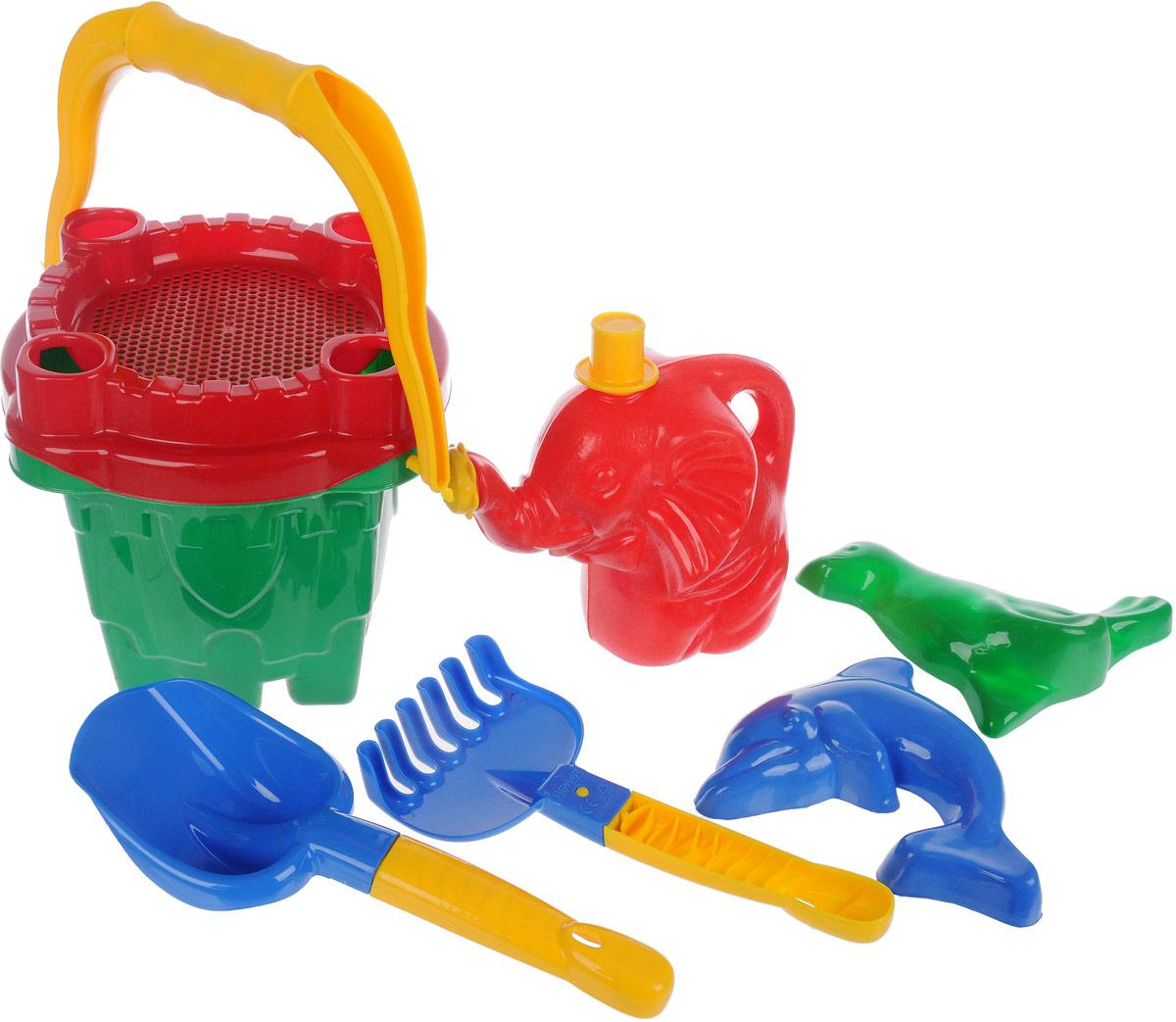 Hemar Набор для песочницы 7 предметов П-0123 hemar набор для песочницы авто ptys 9 предметов