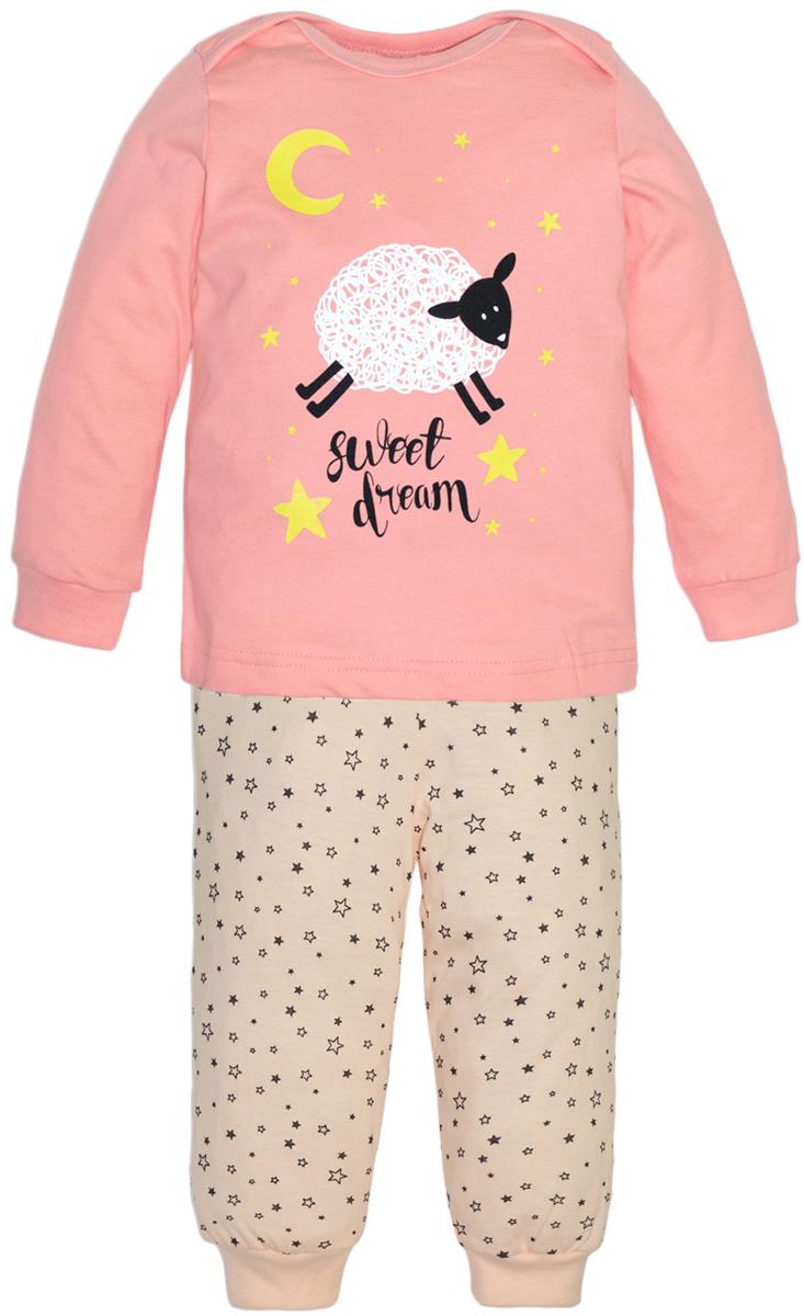 Пижама для девочек Lets Go, цвет: светло-розовый. 9123. Размер 869123
