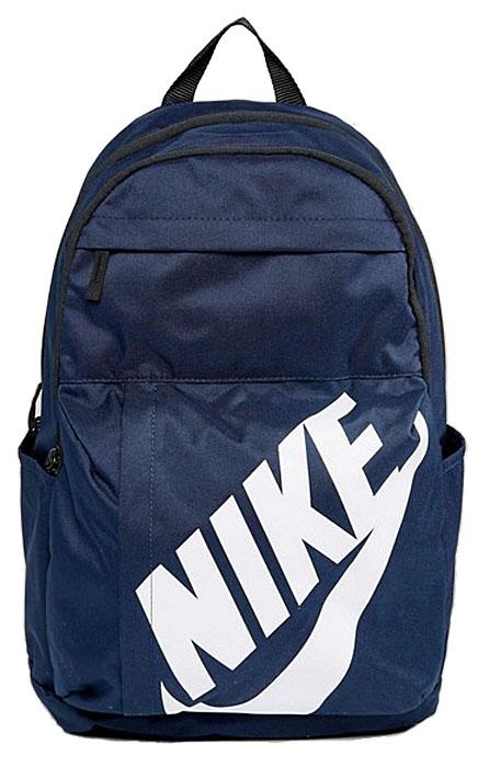 Рюкзак Nike Sportswear Elemental, цвет: синий. BA5381-451BA5381-451Удобный и вместительный рюкзак Nike Sportswear Elemental — новая версия классической модели. Это прочная конструкция с двумя большими отделениями и двумя внешними карманами для хранения мелочей, а также мягкими лямками для поддержки и комфорта.Особенности модели: - большое основное отделение с двойной молнией для надежного хранения. - несколько карманов для удобного хранения. - большой принт с логотипом Nike на переднем кармане. - карман на молнии спереди для удобного и надежного хранения мелочей. - мягкие регулируемые лямки и задняя вставка для поддержки. - удобная ручка для переноски.