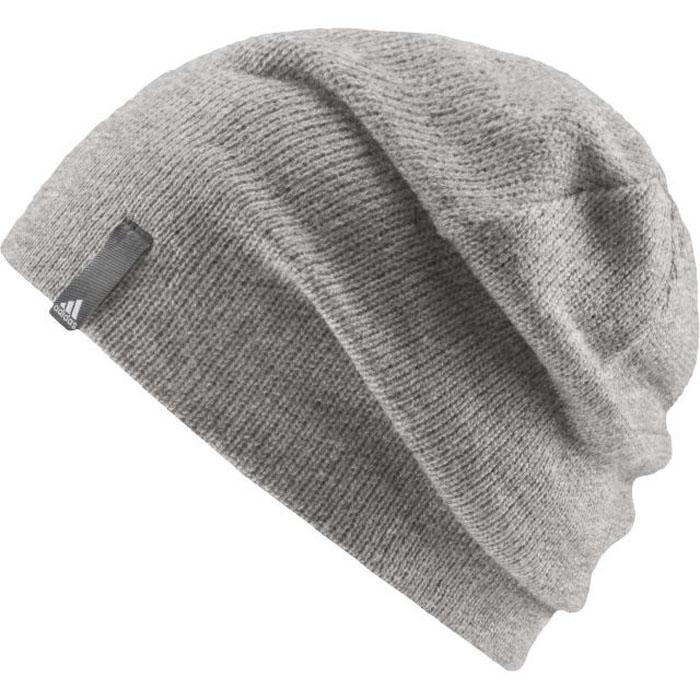 Шапка Adidas Perf Beanie, цвет: серый. AB0355. Размер 54/55AB0355Совершенно необходимая вещь в холодное время года. Классическая теплая шапка-бини из приятного к телу шерстяного трикотажа нейтрального цвета, который будет легко сочетаться с любой экипировкой. Модель имеет слегка удлиненный крой (модель бини). Вязка в мелкий рубчик. Текстильный ярлычок с логотипом adidas.