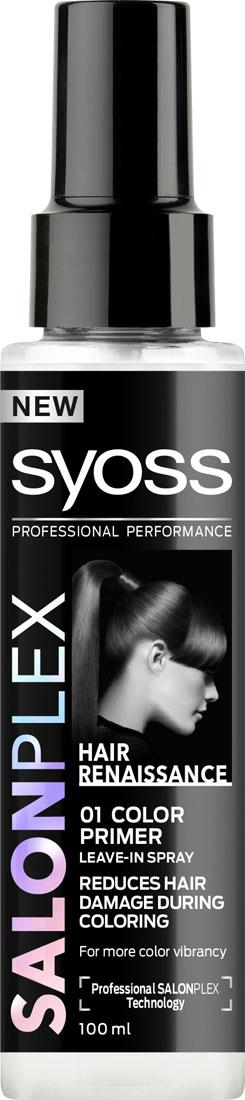 Syoss Salonplex Праймер для защиты волос перед окрашиванием090343742Профессиональная технология SALONPLEX специально создана для волос, поврежденных при окрашивании, обесцвечивании, выпрямлении и завивке:- Воссоздает миллионы поврежденных связей в структуре волоса*.- Защищает волокно волоса от химических, термических