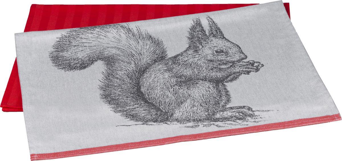 Полотенце кухонное Hobby Home Collection Squirrel, цвет: коралловый, 50 x 70 см, 2 шт1501001629Полотенца марки HOBBY HOME COLLECTION уникальны и разрабатываются эксклюзивно для данной марки. При создании коллекции используются самые высокотехнологичные ткацкие приемы. Дизайнеры марки украшают вещи изысканным декором. Коллекция линии соответствует актуальным тенденциям, диктуемым мировыми подиумами и модой в области домашнего текстиля.