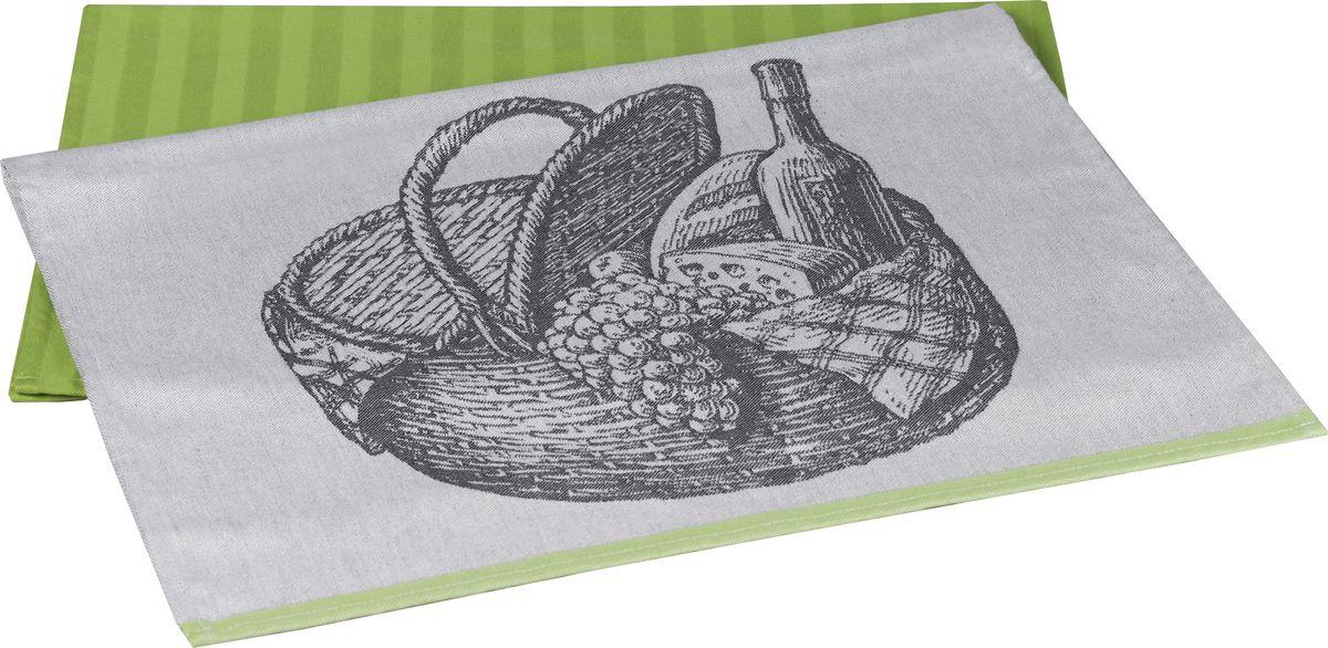 Полотенце кухонное Hobby Home Collection France, цвет: зеленый, 50 x 70 см, 2 шт1501001633Полотенца марки HOBBY HOME COLLECTION уникальны и разрабатываются эксклюзивно для данной марки. При создании коллекции используются самые высокотехнологичные ткацкие приемы. Дизайнеры марки украшают вещи изысканным декором. Коллекция линии соответствует актуальным тенденциям, диктуемым мировыми подиумами и модой в области домашнего текстиля.