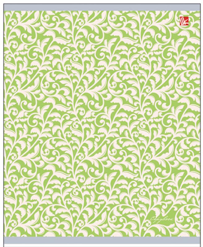 Канц-Эксмо Тетрадь Изящные узоры 96 листов в клетку цвет салатовыйТБ965282_салатовый