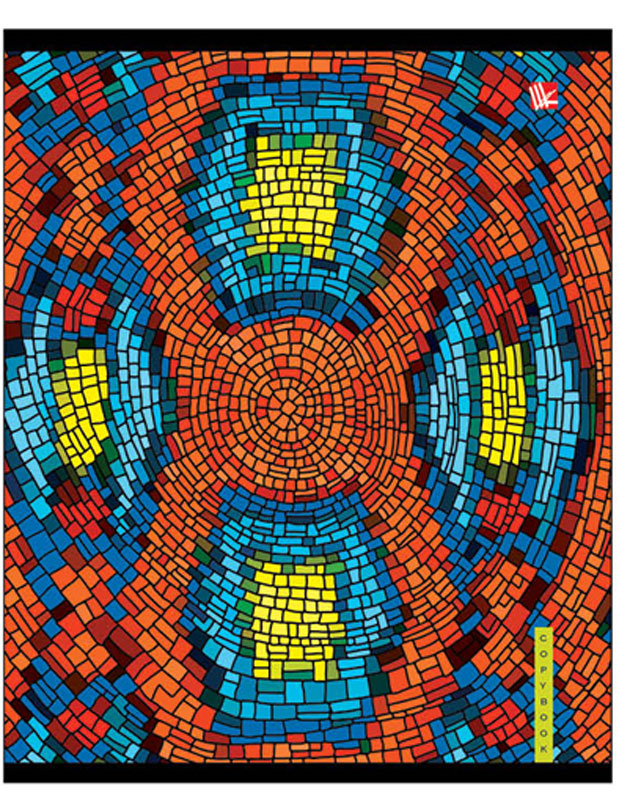Канц-Эксмо Тетрадь Красочная мозаика 48 листов в клетку цвет оранжевый голубойТК485248_тигр
