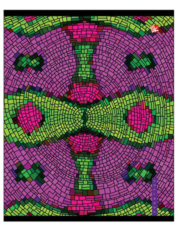 Канц-Эксмо Тетрадь Красочная мозаика 48 листов в клетку цвет фуксия салатовый канц эксмо тетрадь яркий стиль 48 листов в клетку цвет салатовый