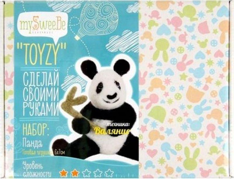 Toyzy Набор для изготовления игрушки из шерсти Панда