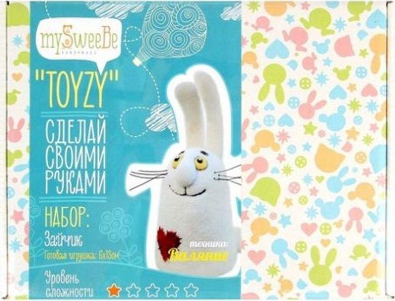 Toyzy Набор для изготовления игрушки из шерсти Зайчик