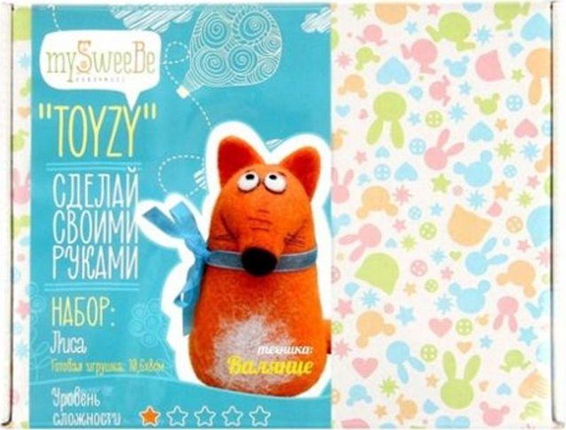 Toyzy Набор для изготовления игрушки из шерсти Лиса