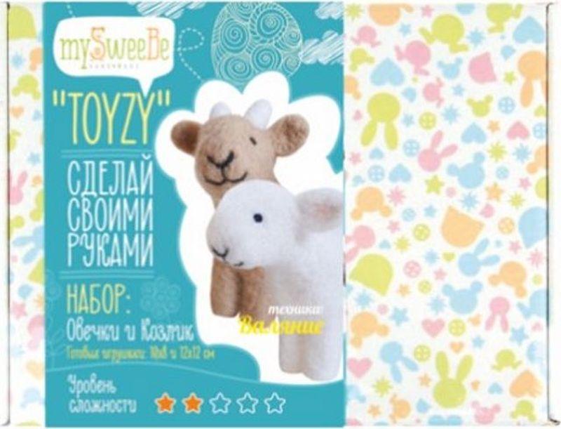Toyzy Набор для изготовления игрушки из шерсти Овечка и козлик