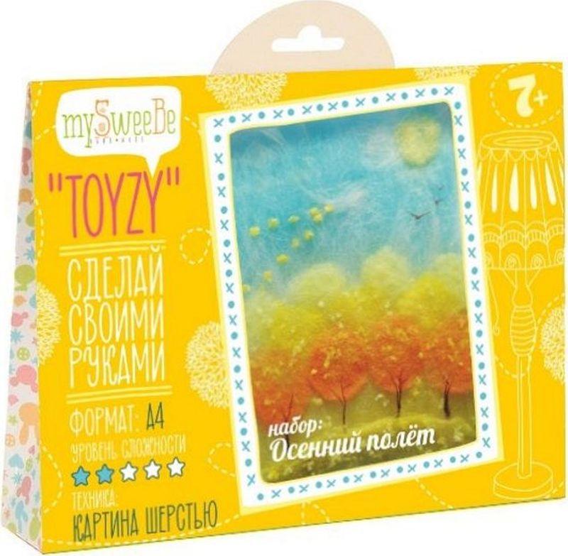 Toyzy Набор для изготовления картины из шерсти Осенний полет