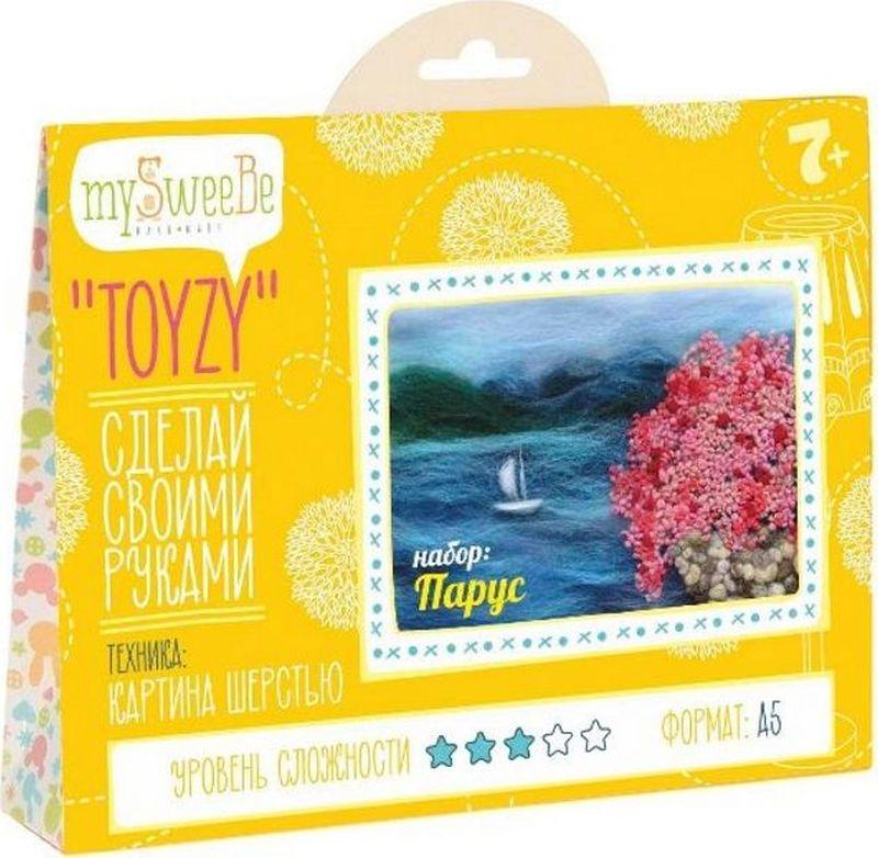 Toyzy Набор для изготовления картины из шерсти Парус