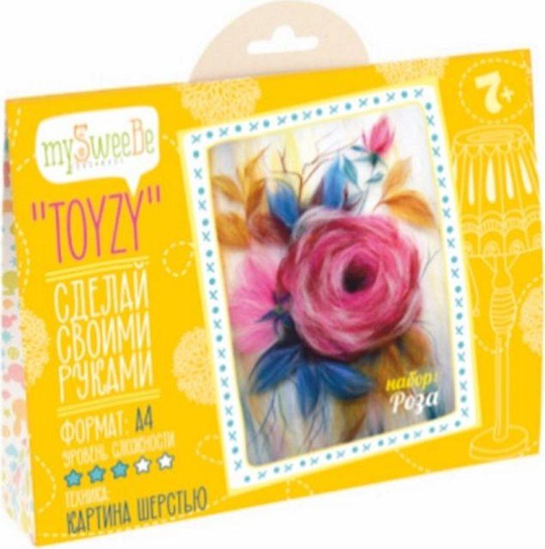 Toyzy Набор для изготовления картины из шерсти Роза