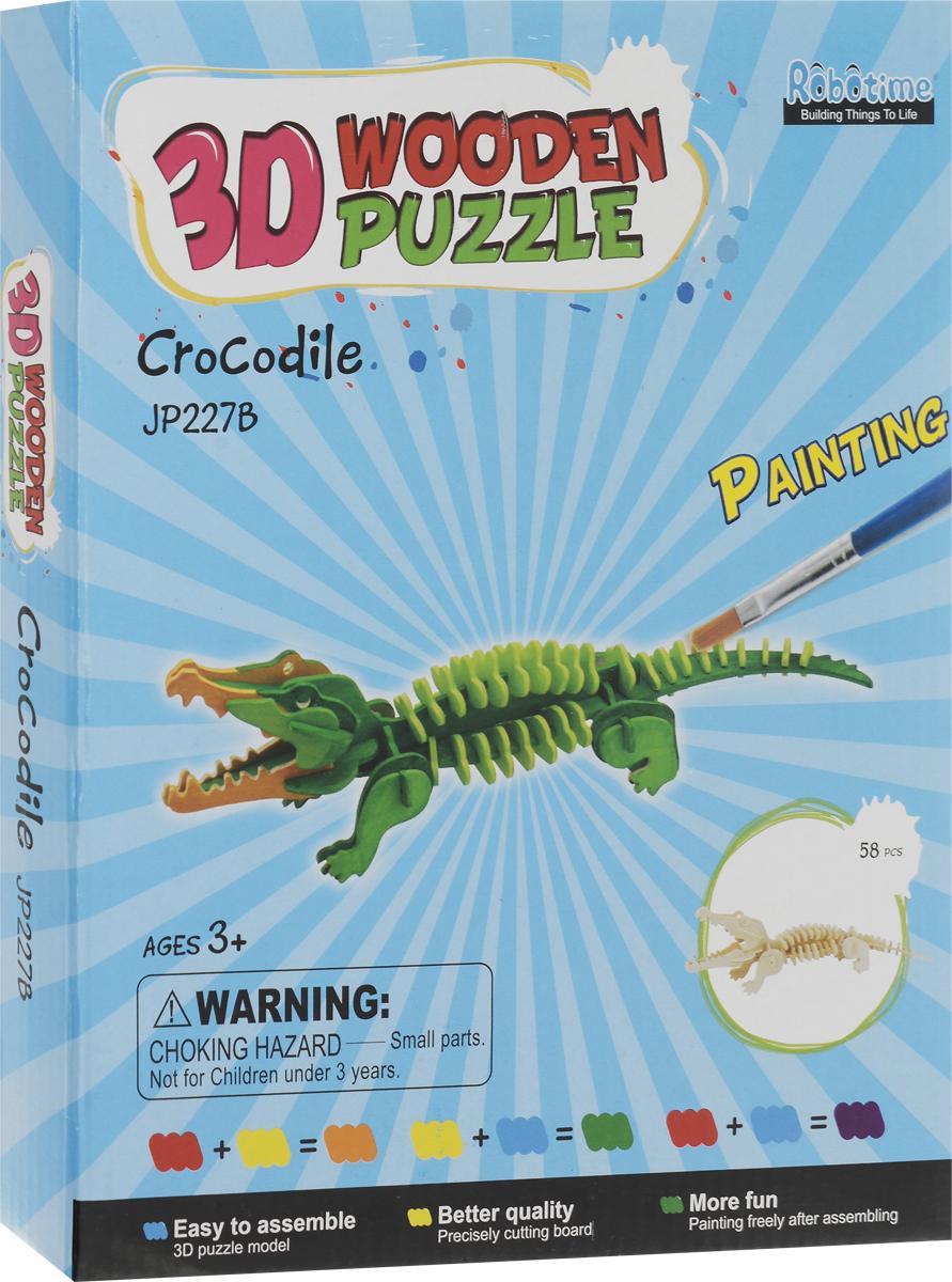 Robotime 3D Пазл Крокодил JP227В