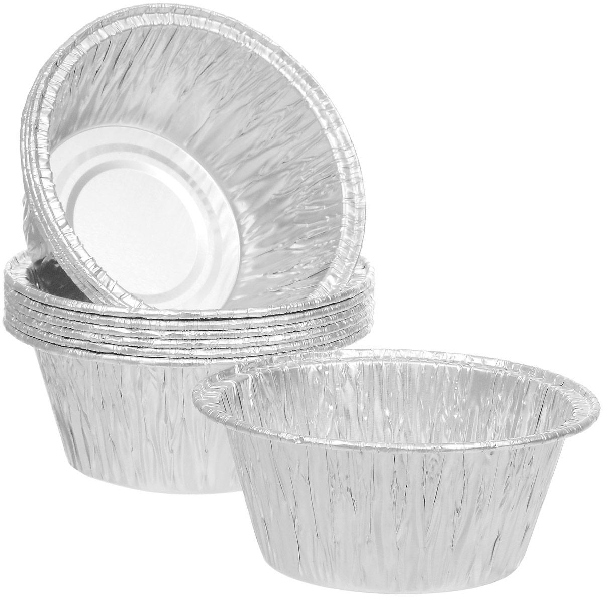 Форма для выпечки Paterra, 5,5 х 7,5 х 7,5 см, 10 шт402-422Формы для выпечки Paterra изготовлены из алюминия. Пища в таких формах не пригорает и не прилипает к стенкам, готовое блюдо легко вынимается. Изделия прекрасно подойдут для выпечки и запекания, а также для замораживания. Такие формы станут полезным приобретением для вашей кухни. Формы выдерживают любые температурные режимы духовых шкафов. Размер формы: 5,5 х 7,5 х 7,5 см.Объем формы: 130 мл.