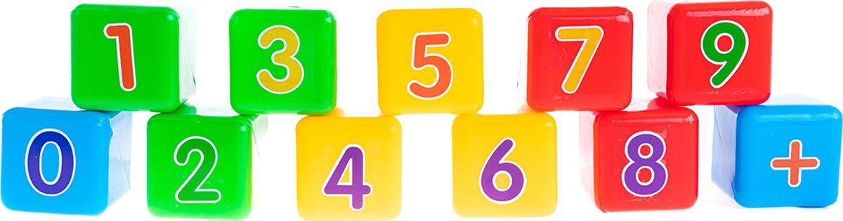 Пластмастер Набор кубиков Первая математика 7х7 см развиваем мышление в мире математики