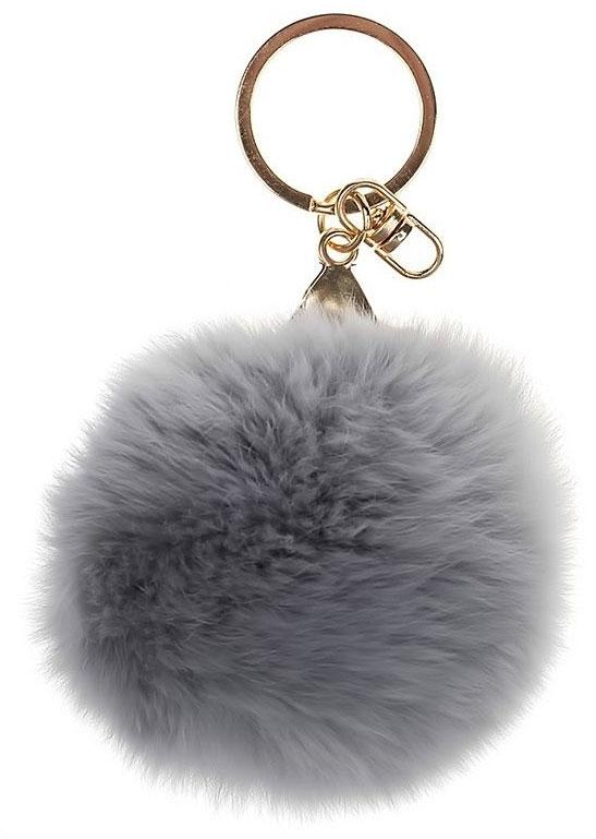 Vebtoy Брелок Пушистый цвет серый vebtoy рюкзак дошкольный пушистый кролик цвет серый