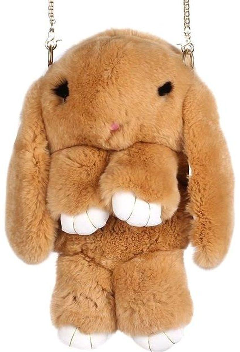 Vebtoy Рюкзак дошкольный Пушистый кролик цвет коричневыйРК-601Рюкзак в виде красивого пушистого зайчика из искусственного меха является отличным способом выделиться и подчеркнуть свою индивидуальность и хороший вкус.Такую сумочку можно носить через плечо, а продев металлический ремешок через среднее кольцо-держатель, сумочка превращается в рюкзак.При прикосновении к такому аксессуару обладатель попадает в мир великолепной нежности. Очень мягкий на ощупь мех красивого цвета разнообразит современный гардероб, а также сделает образ полностью завершенным.Такой рюкзак не оставит обладателя равнодушным и без пристального внимания со стороны окружающих!Лапки кролика и обратная сторона ушек изготовлены из эко-кожи.Такой пушистый рюкзачок идеально подойдет в качестве подарка, как маленькой девочке, так и юной моднице.