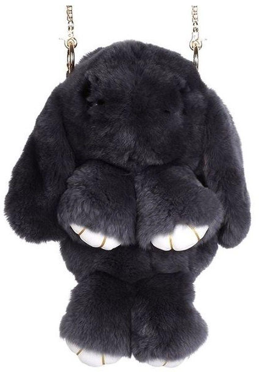 Vebtoy Рюкзак дошкольный Пушистый кролик цвет черныйРК-608Рюкзак в виде красивого пушистого зайчика из искусственного меха является отличным способом выделиться и подчеркнуть свою индивидуальность и хороший вкус.Такую сумочку можно носить через плечо, а продев металлический ремешок через среднее кольцо-держатель, сумочка превращается в рюкзак.При прикосновении к такому аксессуару обладатель попадает в мир великолепной нежности. Очень мягкий на ощупь мех красивого цвета разнообразит современный гардероб, а также сделает образ полностью завершенным.Такой рюкзак не оставит обладателя равнодушным и без пристального внимания со стороны окружающих!Лапки кролика и обратная сторона ушек изготовлены из эко-кожи.Такой пушистый рюкзачок идеально подойдет в качестве подарка, как маленькой девочке, так и юной моднице.