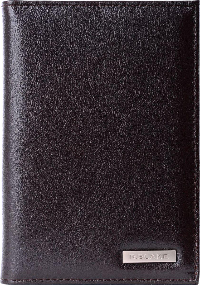 Обложка для паспорта мужская R.Blake Cover, цвет: коричневый. GCVR00-000000-F9113O-K100Натуральная кожаОбложка для паспорта изготовлена из качественной натуральной кожи. Внутренние дополнительные карманы для карт из полуматовой гладкой кожи.Размер: 9,8 х 13,6 см.