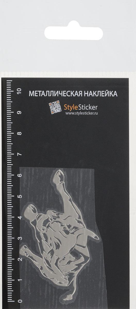 Zakazat.ru Наклейка металлическая SAGO Бык, цвет: серебристый, 6,2 х 4,2 см