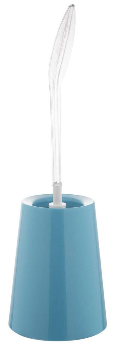 Ершик для унитаза Berossi ECO, с подставкой, цвет: васильковый, 15,7 х 47, 5 смАС 34761000Ерш с подставкой ECO (васильковый), 157х475 мм., прозрачная ручка оригинальной формы.