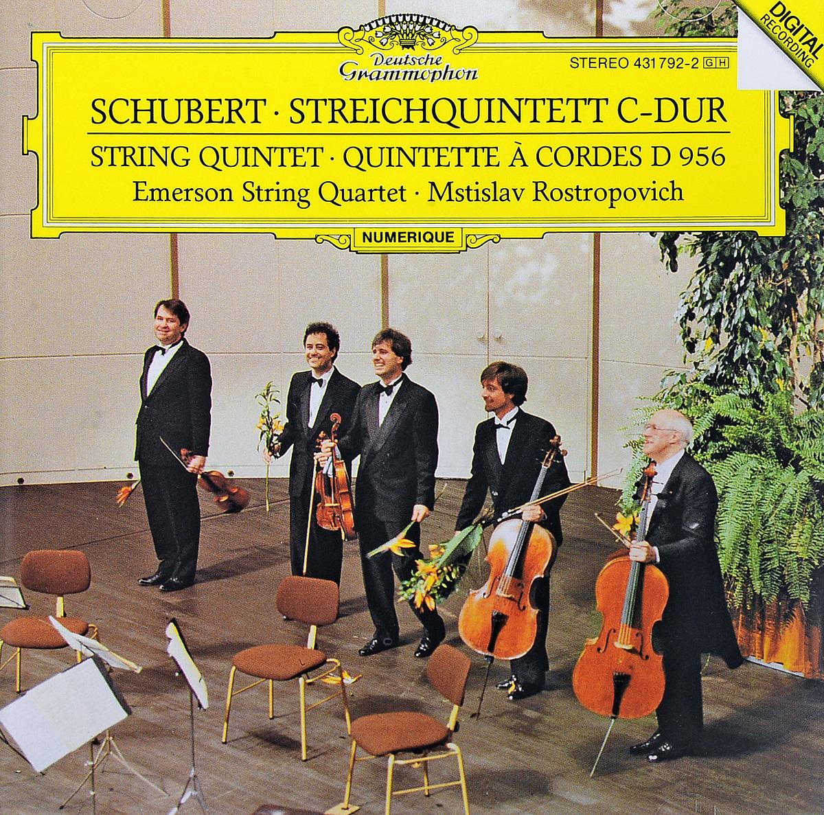 Schubert. Emerson String Quartet. Mstislav Rostropovich. Streichquintett C-dur (String Quintet · Quintette А Cordes D 956) emerson string quartet emerson string quartet beethoven string quartets opp 59 74