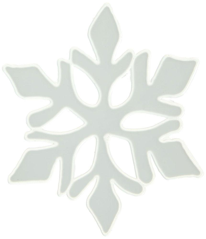 Наклейка на стекло Белая остроконечная снежинка1399662Зимой не только мороз украшает стекла узорами. Сделайте интерьер еще торжественней: преобразите его с помощью специальных наклеек! Декор из силикона не содержит клей и не оставляет следов. Пластичная фигурка сама прилипает к гладкой поверхности, а в конце зимних праздников ее легко снять и отложить до следующего года. Прикрепите на стекло или зеркало одно украшение или создайте целую композицию. Новогодние наклейки приблизят праздничное настроение!
