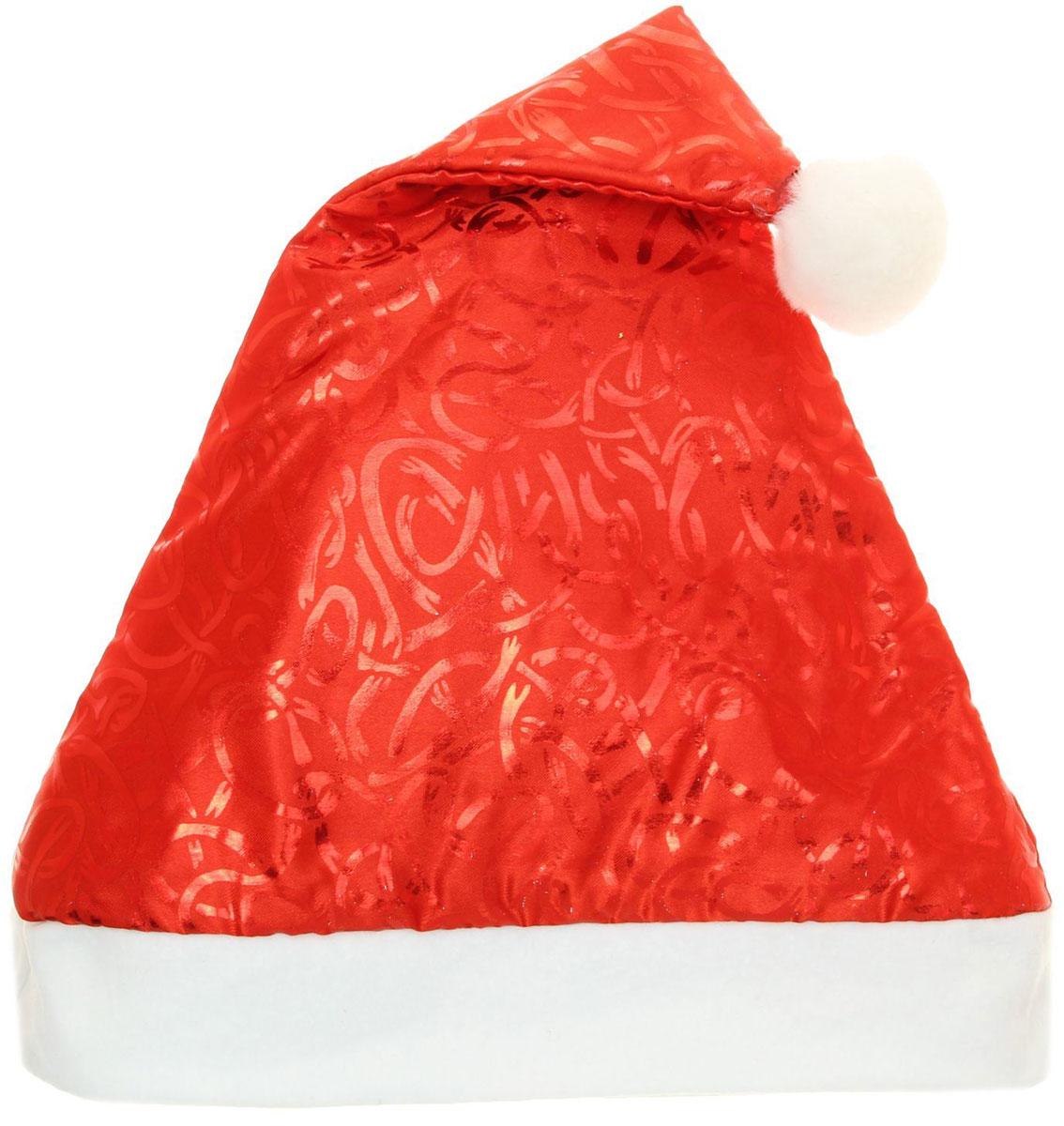 Колпак новогодний Серпантин, 28 х 40 см. 13906411390641Поддайтесь новогоднему веселью на полную катушку! Забавный колпак в секунду создаст праздничное настроение, будь то поздравление ребятишек или вечеринка с друзьями. Размер изделия универсальный: аксессуар подойдет как для ребенка, так и для взрослого. А мягкий текстиль позволит носить колпак с комфортом на протяжении всей новогодней ночи.