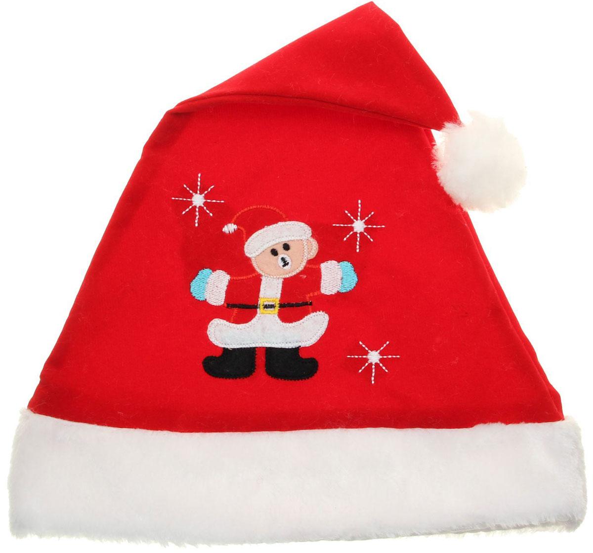 Колпак новогодний Мишка в костюме, 28 х 41 см. 13906371390637Поддайтесь новогоднему веселью на полную катушку! Забавный колпак в секунду создаст праздничное настроение, будь то поздравление ребятишек или вечеринка с друзьями. Размер изделия универсальный: аксессуар подойдет как для ребенка, так и для взрослого. А мягкий текстиль позволит носить колпак с комфортом на протяжении всей новогодней ночи.