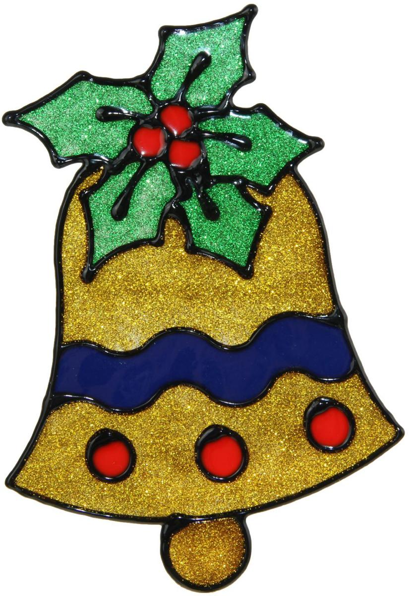 Наклейка на стекло Колокольчик с ягодой1399665Зимой не только мороз украшает стекла узорами. Сделайте интерьер еще торжественней: преобразите его с помощью специальных наклеек! Декор из силикона не содержит клей и не оставляет следов. Пластичная фигурка сама прилипает к гладкой поверхности, а в конце зимних праздников ее легко снять и отложить до следующего года. Прикрепите на стекло или зеркало одно украшение или создайте целую композицию. Новогодние наклейки приблизят праздничное настроение!