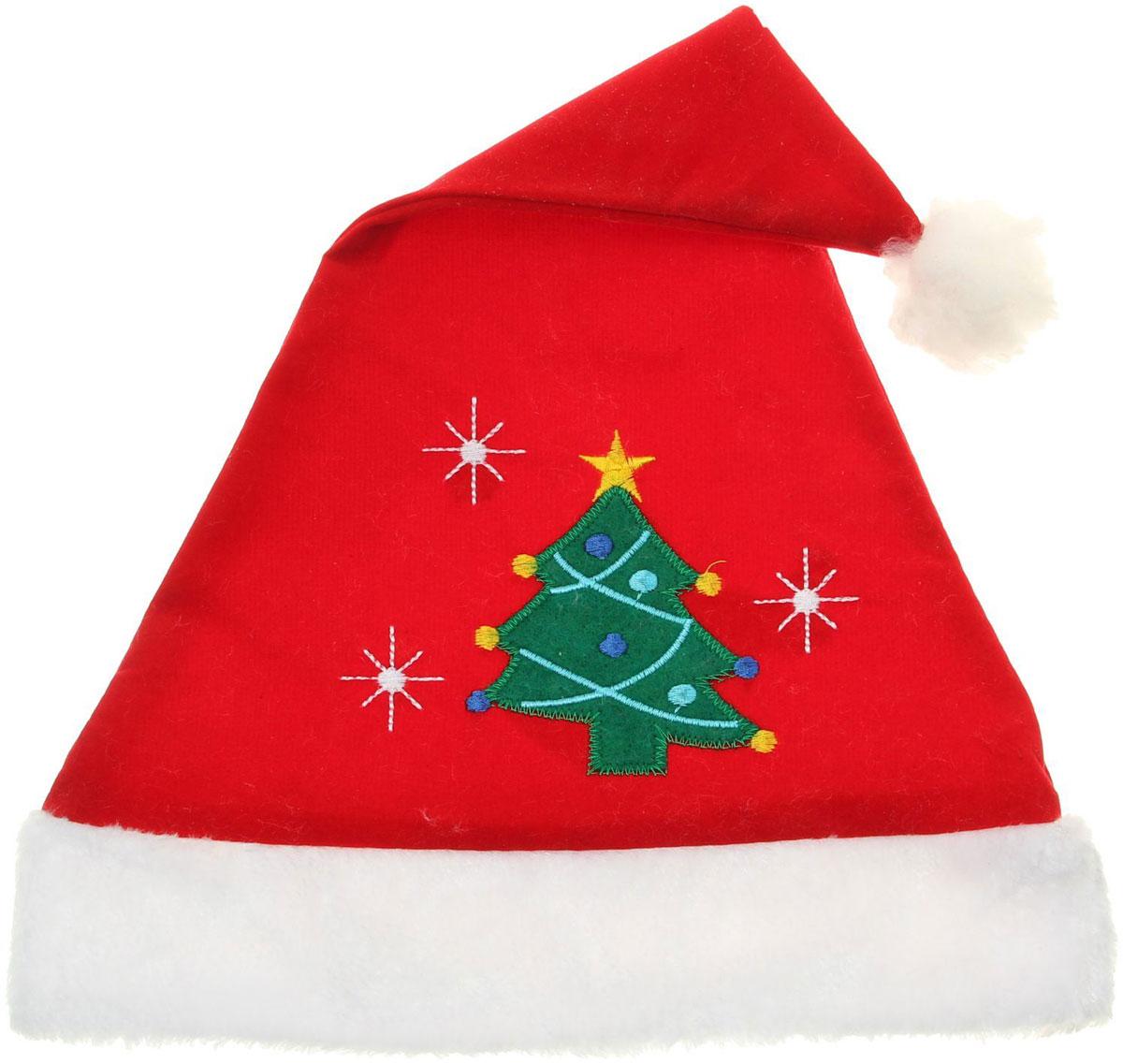 Колпак новогодний С новогодней елкой, 28 х 41 см. 13906351390635Поддайтесь новогоднему веселью на полную катушку! Забавный колпак в секунду создаст праздничное настроение, будь то поздравление ребятишек или вечеринка с друзьями. Размер изделия универсальный: аксессуар подойдет как для ребенка, так и для взрослого. А мягкий текстиль позволит носить колпак с комфортом на протяжении всей новогодней ночи.