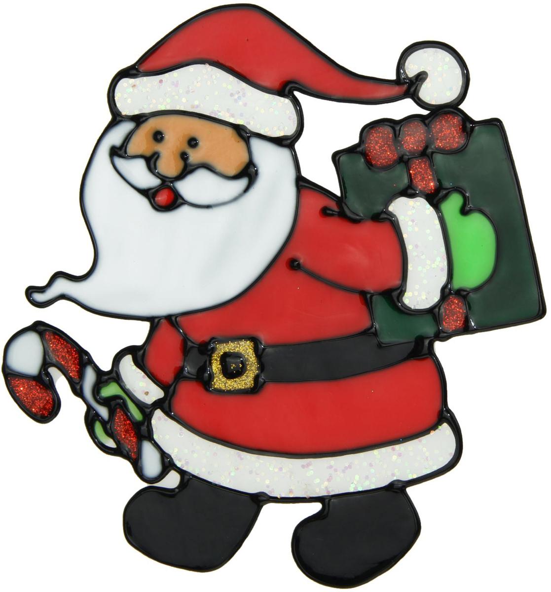 Украшение новогоднее оконное Дед Мороз с подарком за спиной, 13,5 х 13,5 см1399706Новогоднее оконное украшение Дед Мороз с подарком за спиной поможет украсить дом кпредстоящим праздникам. Яркая наклейка крепится к гладкой поверхности стекла посредствомстатического эффекта. С помощью такого украшения вы сможете оживить интерьер по своемувкусу. Новогодние украшения всегда несут в себе волшебство и красоту праздника. Создайте в своемдоме атмосферу тепла, веселья и радости, украшая его всей семьей.