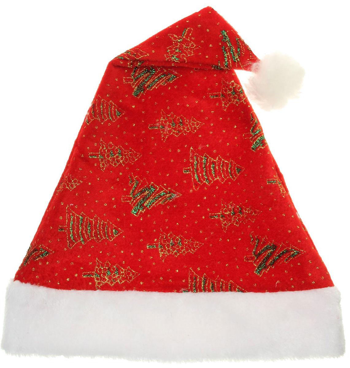 Колпак новогодний Елочки зеленые. 30 х 42 см. 13906321390632Поддайтесь новогоднему веселью на полную катушку! Забавный колпак в секунду создаст праздничное настроение, будь то поздравление ребятишек или вечеринка с друзьями. Размер изделия универсальный: аксессуар подойдет как для ребенка, так и для взрослого. А мягкий текстиль позволит носить колпак с комфортом на протяжении всей новогодней ночи.