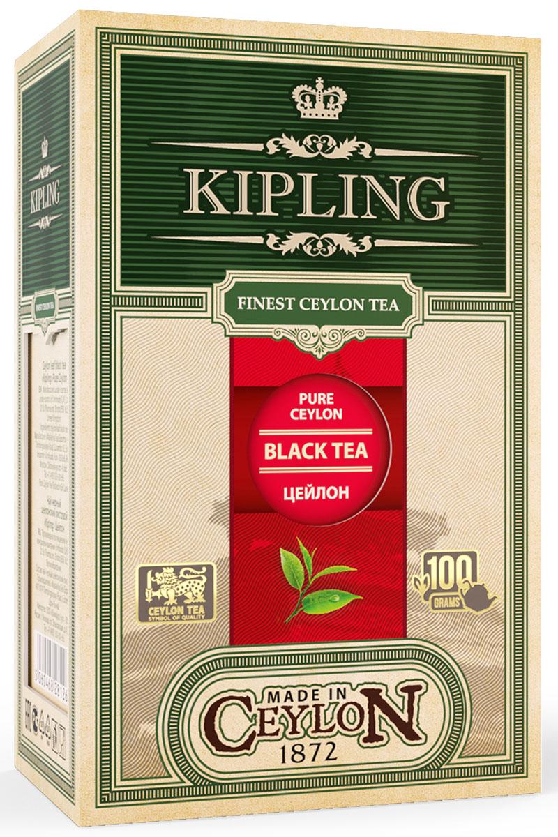 Kipling Black Loose Tea Pure Ceylon оригинальный черный листовой чай, 100 г70301Ароматный насыщенный чай золотисто-янтарного цвета с глубоким цветочным вкусом. Идеален для использования в течение всего дня.