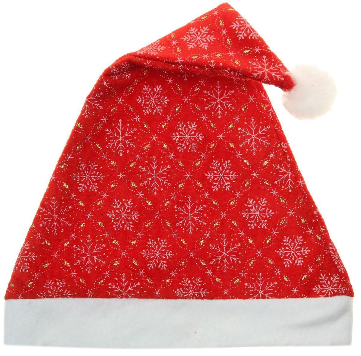 Колпак новогодний Снежинки в узорном ромбе, 28 х 40 см. 13906291390629Поддайтесь новогоднему веселью на полную катушку! Забавный колпак в секунду создаст праздничное настроение, будь то поздравление ребятишек или вечеринка с друзьями. Размер изделия универсальный: аксессуар подойдет как для ребенка, так и для взрослого. А мягкий текстиль позволит носить колпак с комфортом на протяжении всей новогодней ночи.