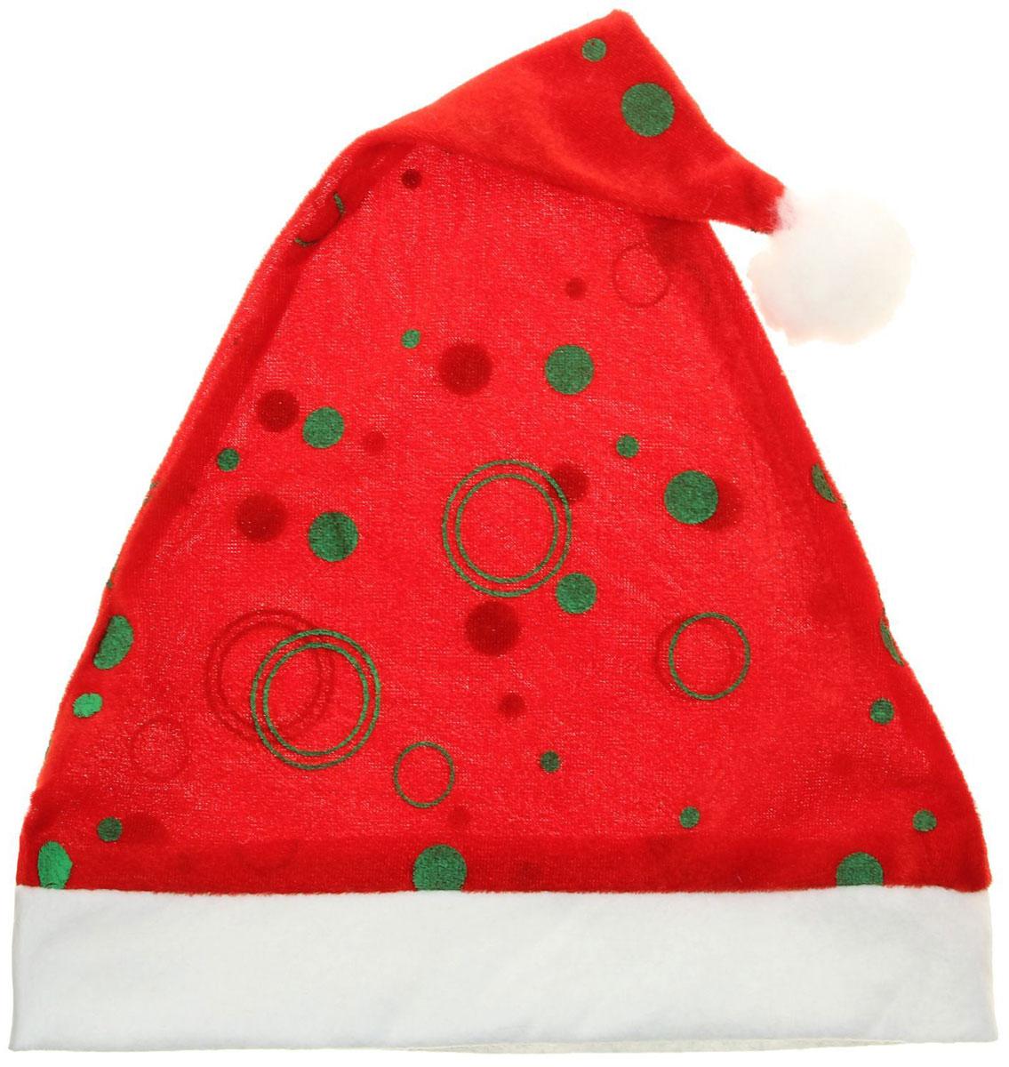 Колпак новогодний С кругами, 28 х 40 см. 13906281390628Поддайтесь новогоднему веселью на полную катушку! Забавный колпак в секунду создаст праздничное настроение, будь то поздравление ребятишек или вечеринка с друзьями. Размер изделия универсальный: аксессуар подойдет как для ребенка, так и для взрослого. А мягкий текстиль позволит носить колпак с комфортом на протяжении всей новогодней ночи.