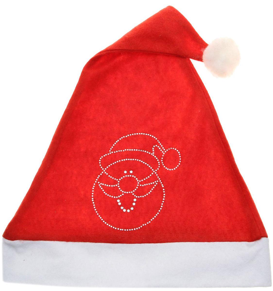 Колпак новогодний Дед Мороз, 29 х 38 см. 13905951390595Поддайтесь новогоднему веселью на полную катушку! Забавный колпак в секунду создаст праздничное настроение, будь то поздравление ребятишек или вечеринка с друзьями. Размер изделия универсальный: аксессуар подойдет как для ребенка, так и для взрослого. А мягкий текстиль позволит носить колпак с комфортом на протяжении всей новогодней ночи.