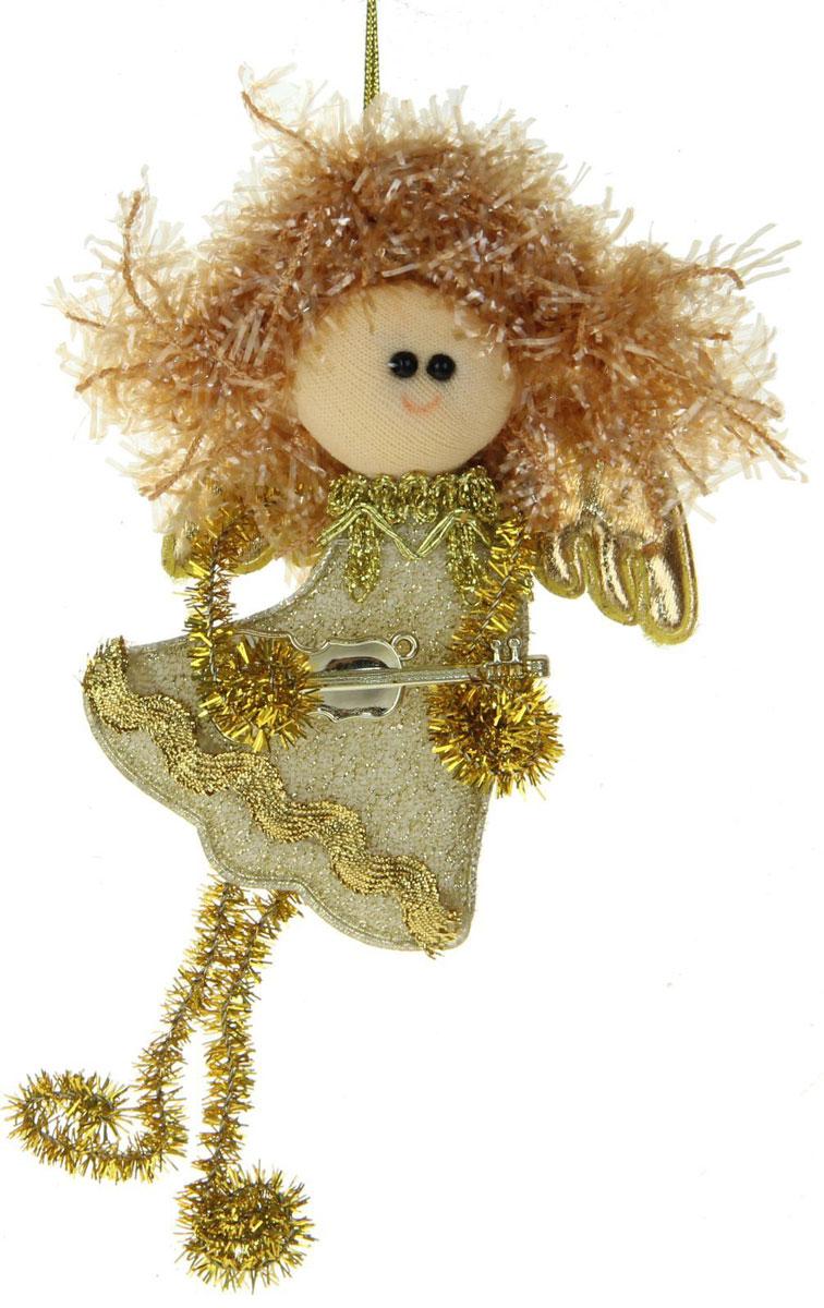 Новогоднее подвесное украшение Блеск. Фея, золотые завитки1381203Новогоднее украшение ручной работы отлично подойдет для декорации вашего дома и новогодней ели. С помощью специальной петельки украшение можно повесить в любом понравившемся вам месте. Но, конечно, удачнее всего оно будет смотреться на праздничной елке.Елочная игрушка - символ Нового года. Она несет в себе волшебство и красоту праздника. Такое украшение создаст в вашем доме атмосферу праздника, веселья и радости.