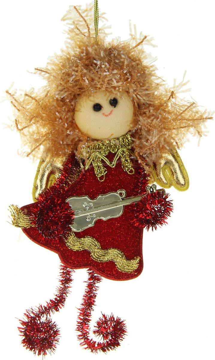 Новогоднее подвесное украшение Блеск. Фея, красные завитки1381202Новогоднее украшение ручной работы отлично подойдет для декорации вашего дома и новогодней ели. С помощью специальной петельки украшение можно повесить в любом понравившемся вам месте. Но, конечно, удачнее всего оно будет смотреться на праздничной елке.Елочная игрушка - символ Нового года. Она несет в себе волшебство и красоту праздника. Такое украшение создаст в вашем доме атмосферу праздника, веселья и радости.