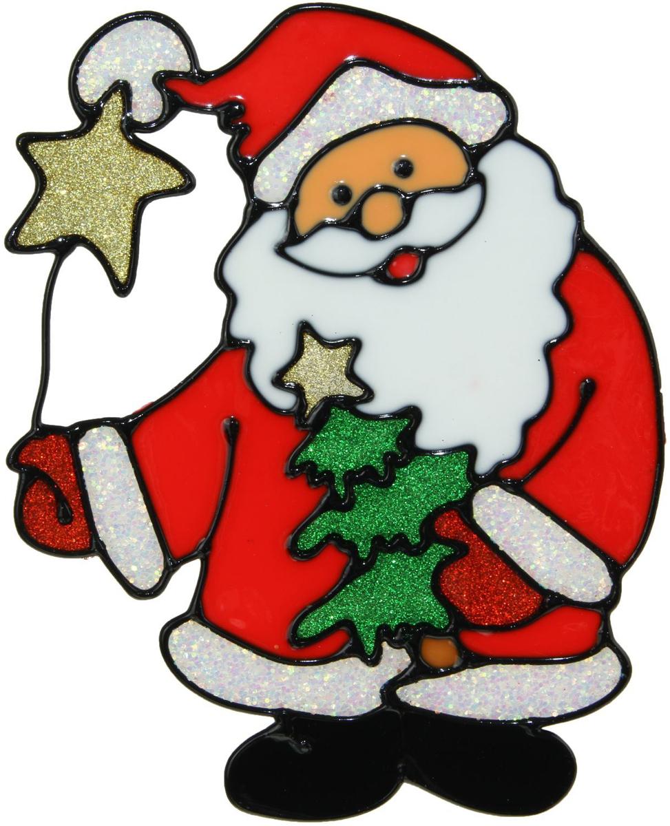 Украшение новогоднее оконное Дед Мороз с елкой и звездочкой, 14,5 х 18 см1399720Новогоднее оконное украшение Дед Мороз с елкой и звездочкой поможет украсить дом кпредстоящим праздникам. Яркая наклейка крепится к гладкой поверхности стекла посредствомстатического эффекта. С помощью такого украшения вы сможете оживить интерьер по своемувкусу. Новогодние украшения всегда несут в себе волшебство и красоту праздника. Создайте в своемдоме атмосферу тепла, веселья и радости, украшая его всей семьей.