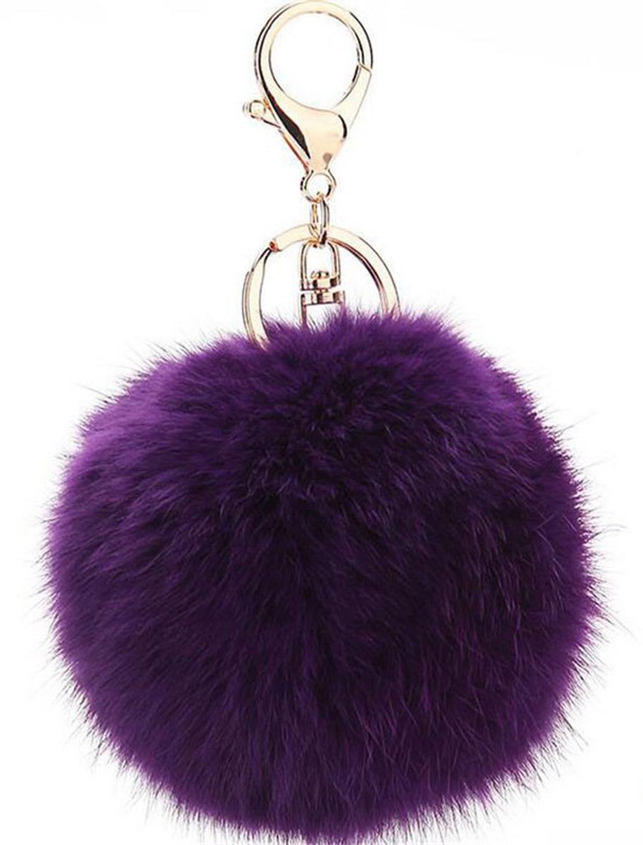 Vebtoy Брелок Пушистый цвет фиолетовый