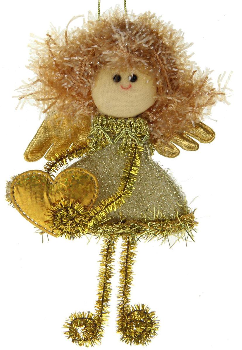 Украшение новогоднее Блесточка. Фея с сердечком в золотом1381200Ничто так не преображает торжество, как очаровательные новогодние игрушки. Мягкое украшение наполнит праздничный интерьер уютом. Используйте его отдельно или повесьте на елку. Оригинальный декор создаст чудесное настроение. Ведь праздник складывается из милых сердцу мелочей.