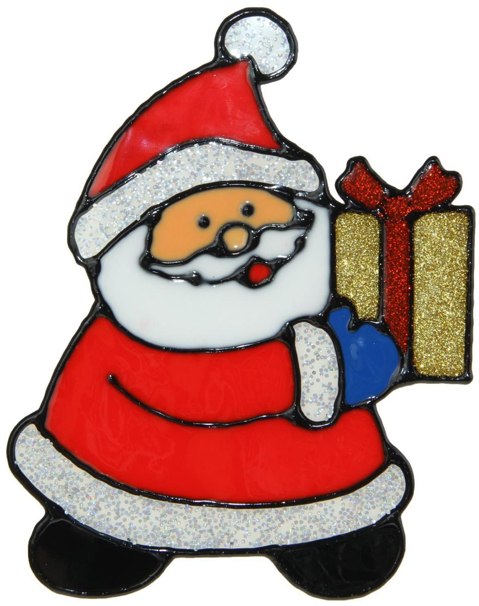 Украшение новогоднее оконное NoName Дед Мороз несет подарок, 11,5 х 15 см1399703Новогоднее оконное украшение NoName Дед Мороз несет подарок поможет украсить дом к предстоящим праздникам. Яркая наклейка крепится к гладкой поверхности стекла посредством статического эффекта. С помощью такого украшения вы сможете оживить интерьер по своему вкусу.Новогодние украшения всегда несут в себе волшебство и красоту праздника. Создайте в своем доме атмосферу тепла, веселья и радости, украшая его всей семьей.