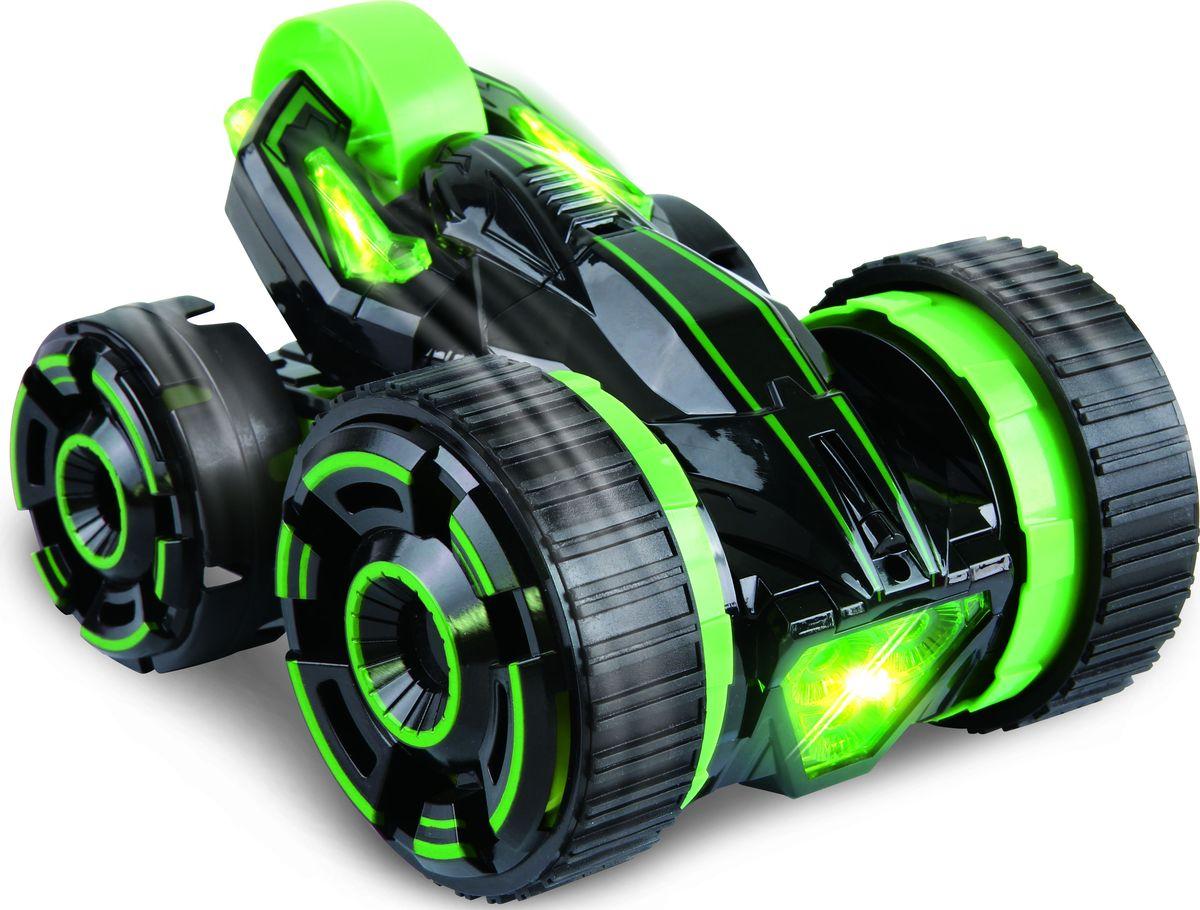 1TOY Машина-перевертыш на радиоуправлении Драйв цвет зеленый plastic toy машина на радиоуправлении races цвет красный