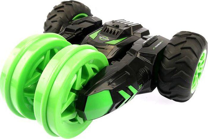1TOY Машина-перевертыш на радиоуправлении Драйв цвет черный зеленый plastic toy машина на радиоуправлении races цвет красный