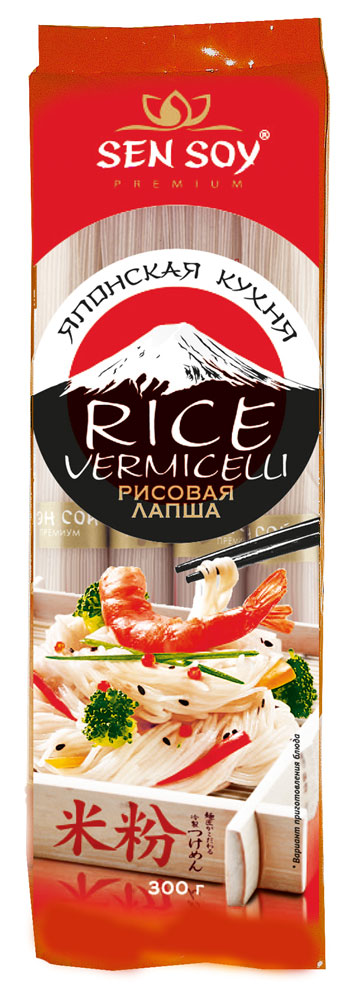 Sen Soy Лапша рисовая Rice Vermicelli, 300 г sen soy лапша рисовая в гнездах 400 г