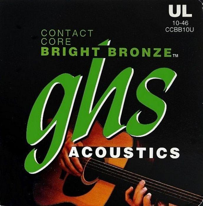 GHS DNT-24742 cтруны для акустической гитарыDNT-24742GHS CCBB10 - (10-46) бронза 80/20; Contact Core Bright